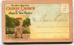 OLDEST CHURCH IN U.S.A., SANTA FE, NEW MEXICO. TEN SELECT CARDS. PHOTOSET UNITED STATES. YEAR CIRCA 1930's. - LILHU - Santa Fe