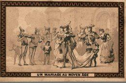 CHROMO BISCUIT PERNOT UN MARIAGE AU MOYEN AGE - Pernot