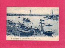 33 Gironde, Bordeaux, La Rade Et Le Pont Transbordeur, Animée, Bateaux, 1926, (L. L.) - Bordeaux