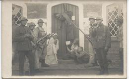 """Carte Photo """"groupe De Militaire Baptême"""" - Belgique"""