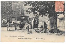 Cpa...Saint-Maximin...(Var)...le Boulevard Rey...animée...lavandière..attelage..1906... - Autres Communes