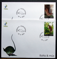Faroe Islands  2013    Fauna. Rat & Mouse  MiNr.785-86   FDC       ( Lot  6672)) - Islas Faeroes