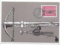 LIECHTENSTEIN CARTE MAXIMUM 1980 ARMES DE CHASSE - Timbres