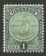 Grenada.  1908 Coat Of Arms. 1 Sh. SG 86. MH - Grenada (...-1974)