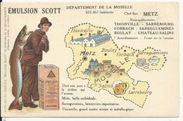 Departement De La Moselle  Contour  Géographique   Pub  Emultion Scott - France