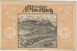 Austria (NOTGELD) 20 Heller 30-12-1920 Windhag UNC Ref 3273-1 - Austria