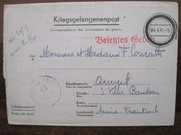 Stalag VI A 1941 Kriegsgefangenenpost Prisonnier Guerre Ww2 WK1 POW PG Arcueil HEMER DR Courrier Lager - 1914-18