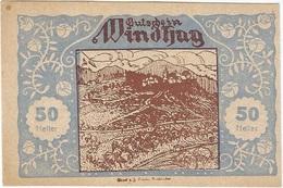 Austria (NOTGELD) 50 Heller 30-12-1920 Windhag - Austria