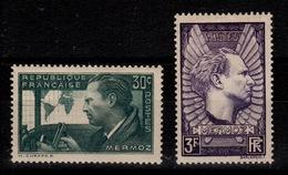 YV 337 & 338 N* Mermoz Cote 6,50 Euros - Unused Stamps