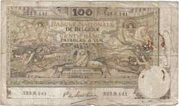 Bélgica - Belgium 100 Francs 24-6-1914 Pk 71 2.3 Firmas Babau Y De Lantsheere Ref 5 RARO - 100 Francos