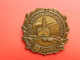Medaille SUISSE  - DEM TREUEN GAST PERTISAU - 5 JAHRE - Non Classés