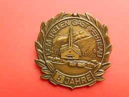 Medaille SUISSE  - DEM TREUEN GAST PERTISAU - 5 JAHRE - Unclassified