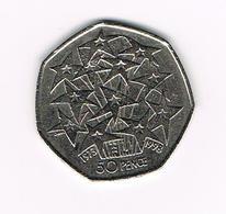 //  GREAT BRITAIN  50 PENCE  1998  BOUQUET Of STARS - 1971-… : Monnaies Décimales