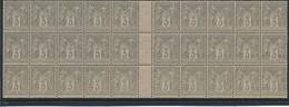 CP-364: FRANCE: Lot Avec N°87** Bloc De 30 - 1876-1898 Sage (Type II)