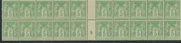 CP-365: FRANCE: Lot Avec N°106** Mill 9 - 1898-1900 Sage (Type III)