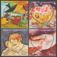 TURKEY 2009, MOTHER'S DAY, BIRD, HEART, FLOWER, MNH SET (MiNo 3730/33) In GOOD QUALITY, *** - 1921-... Republic