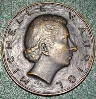 Ancienne Médaille De Bronze - Michelle V Auriol - 1947 - 1953 - Professionals/Firms