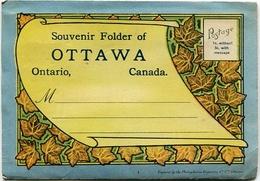 OTTAWA, SOUVENIR FOLDER. 18 PHOTOS. PHOTOSET CANADA. YEAR CIRCA 1930's. - LILHU - Ottawa