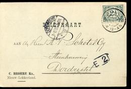 Nieuw Lekkerland - C Broere KZ - 1908 - Brieven En Documenten