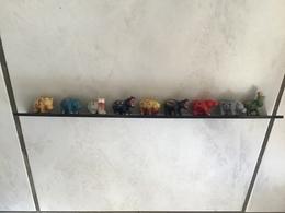RARE Série 9 Fèves Filets Or  LES HIPPOS DECO Hippopotames Design - Animals
