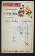 "Ancienne Facture  Rhum  Charleston "" Le  Thé"" Vente Exclusive Par Marie Brizard & Roger - Rhum"