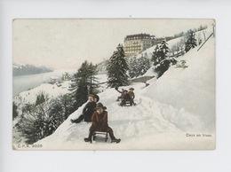 Suisse (vaud) Caux En Hiver (n°9028) Luge Enfant - VD Vaud