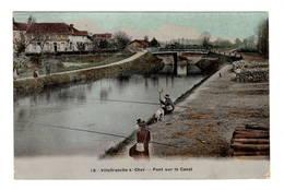 41 LOIR ET CHER - VILLEFRANCHE SUR CHER Pont Sur Le Canal, Glacée Couleur - Frankreich