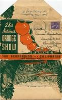 28TH NATIONAL ORANGE SHOW. SAN BERNARDINO, CALIFORNIA U.S.A. PHOTOSET, 20 BLUE PHOTOS. CIRCULEE 1938 TO ARGENTINA -LILHU - San Bernardino