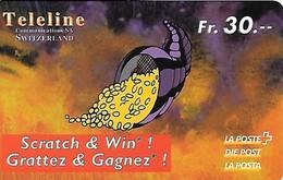 Prepaid: Teleline La Poste - Scrath & Win - Füllhorn - Schweiz