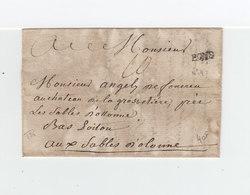 Sur Partie De Lettre Marque Linéaire Pons. Taxe Manuscrite. Destination: Les Sables D'Olonnes. (2200x) - Postmark Collection (Covers)