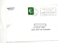 Lettre Flamme Cugnaux Base Aerienne - Postmark Collection (Covers)