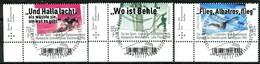BRD - Mi 3460 / 3462 ECKEN LIU - Zentrisch OO Gestempelt (D) - Sporthilfe 19, Ausgabe 02.05.2019 - Gebraucht