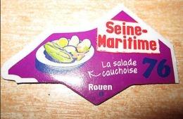 Magnet  GAULOIS FRANCE Département  Nouvelle Série 76/ SEINE MARITIME   ROUEN  LA SALADE CAUCHOISE - Magnets