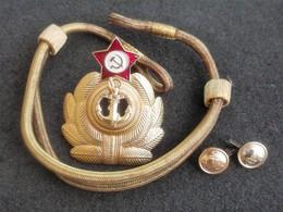Mostreggiatura Completa Per Berretto Marina Unione Sovietica Anni '70 Originale - Forze Aeree