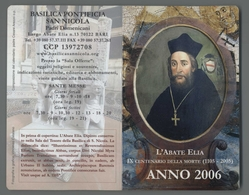 ES5402 Calendario 2006 ABATE ELIA IX CENTENARIO DELLA MORTE BARI APRIBILE Santino - Religione & Esoterismo