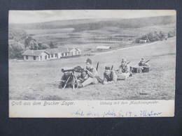 AK BRUCK A.d.Leitha Bruckerlager Lager Maschinengewehr Ca.1910 1WW // D*37828 - Bruck An Der Leitha