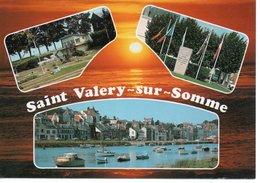 SAINT VALÉRY SUR SOMME - LE MINI GOLF - MÉMORIAL GUILLAUME DE NORMANDIE - VUE GÉNÉRALE SUR LE PORT ET LA VILLE - Saint Valery Sur Somme
