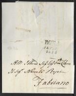DA ROMA A FABRIANO - 1.2.1834. - Italia