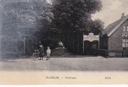 260324Bussum, Vlietlaan Met Hotel VLIETLAAN Pension – Restaurant. (poststempel 1909)(zie Voorkant Kaart) - Bussum