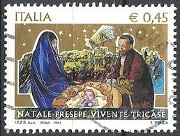 Italia, 2004 Natale, 0,45 € # Sassone 2788 - Michel 3001 - Scott 2632  USATO - 6. 1946-.. Republic