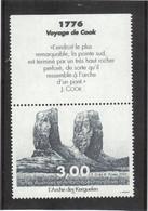 B16 - TAAF - PO 296** MNH De 2001 - ARCHE De KERGUELEN Avec Vignette James COOK - - Terres Australes Et Antarctiques Françaises (TAAF)
