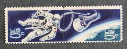 USA - ETATS UNIS D AMERIQUE - 1967 - YT 834 Et 835 ** Se Tenant - CONQUETE DE L ESPACE - Gebraucht