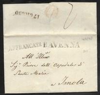 AFFRANCATA DA RAVENNA AD IMOLA - 16.4.1848. - Italia