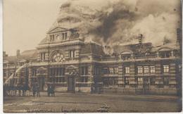 Tournai - Incendie Dans La Gare - 1912 - Animé - Carte-photo - Catastrophes