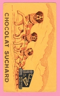 Fr.30   Buvard Illustré Chocolat Suchard Milka + Chiens De Trainaux  227x130. - Cocoa & Chocolat
