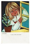Pologne - Polish Illustrator Painter Zofia Stryjenska - Poland - 2 Scans - Illustrateurs & Photographes