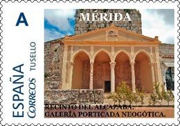 """Spain 2018– España """"Tu Sello"""". Sello Personalizado """"Galería Porticada Neogótica Del Alcazaba"""" De Mérida - Arqueología"""