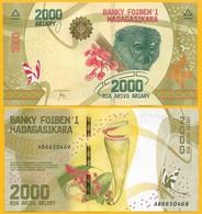 Madagascar 2000 Ariary P-101 2017 UNC Banknote - Madagascar