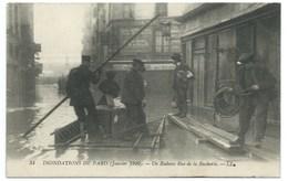 CARTE POSTALE / PARIS INONDATIONS JANVIER 1910 / UN RIDEAU RUE DE LA BOUCHERIE - Inondations De 1910