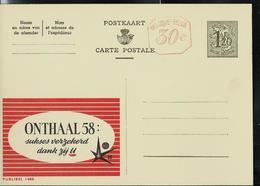 Publibel Neuve N° 1485 M ( ONTHAAL 58  - EXPO  - Atome ) + Repiquage De La Firme Publibel - Enteros Postales